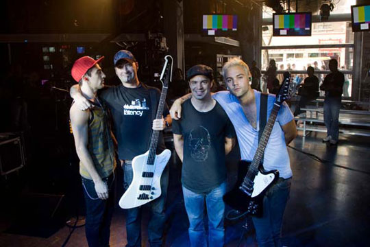Hedley after their incredible performance with the Firebird and Thunderbird